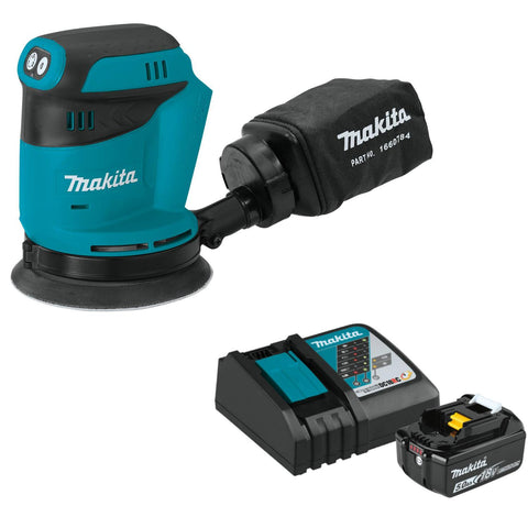 "Makita 18V LXT® Lithium-Ion Cordless 5"" Random Orbit Sander Set"