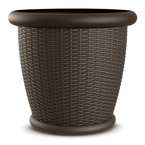 "Suncast 22"" Wicker Planter Set of 2"