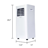 Oslo 10,000 BTU/ 6,000 BTU Portable Air Conditioner with 3 Season Comfort, Dehumidifier, Fan-Only Mode, Remote Controls, 24 Hour timer, and Sleep Mode