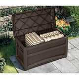 Suncast Resin Wicker Deck Box w/Seat