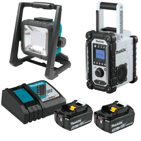 Makita 18-V LXT Job Site Set