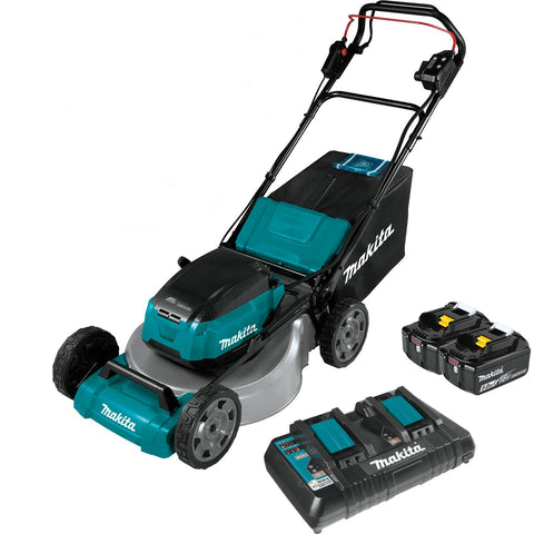 "Makita 18"" Self-Propelled Commercial Lawn Mower Kit with 4 Batteries (5.0Ah)"