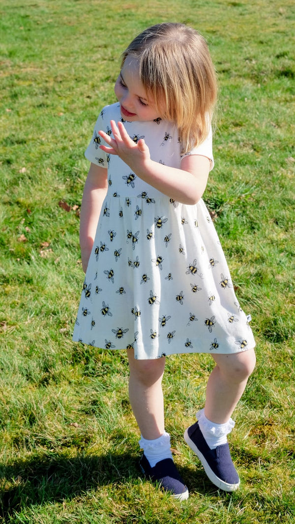 WHITE TAIL BUMBLE BEE DRESS