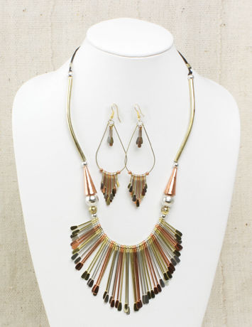 Royal Jewelry Set - Brass and Copper