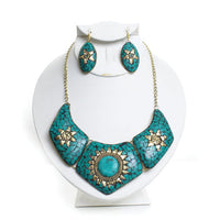Queen Nefertiti Turquoise Necklace Set