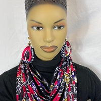Purple the color of royalty African Pattern  Fabric Necklace