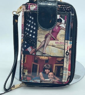 Obama Cross body cell phone and wallet bag