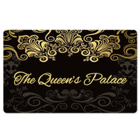 Black-The Queen's Palace Interior Floor Mat