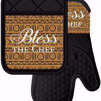 Bless The Chef Oven Mitt and Potholder