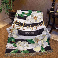 Blessed Magnolia Tapestry Throw