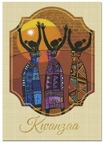 African American Expressions - Kwanzaa Greeting Card (Pack of 15, 5