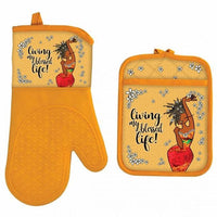 living My Blessed Life Oven Mitt and Potholder set