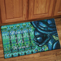 Peace Begins At Home Interior Floor Mat