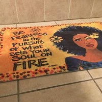 Soul On Fire Memory Foam Bath Mat