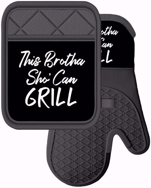 This Brotha Sho Can Grill Oven Mitt and Potholder