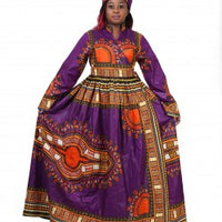 African dress - purple royalty