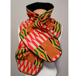 African Print Scarf (fleece-lined)