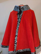 Load image into Gallery viewer, African Print Royal Poncho (One Size)