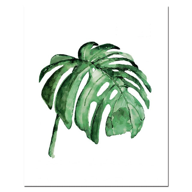 Watercolor Leaves Painting