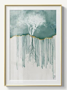 Abstract Forest Canvas Painting