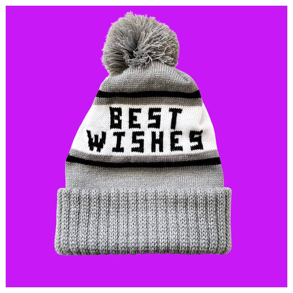 Best Wishes Knit Winter Pom Pom Hat