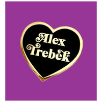 Alex Trebek Enamel Heart Pin