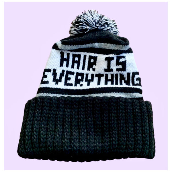 Hair is everything Knit Winter Pom Pom Hat