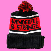 Wonderful and Strange Knit Winter Pom Pom Hat