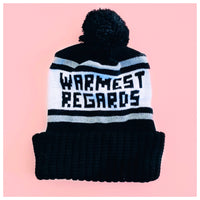 Warmest Regards Knit Winter Pom Pom Hat