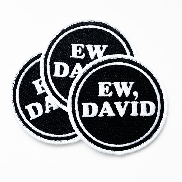 Ew David Iron On Patch