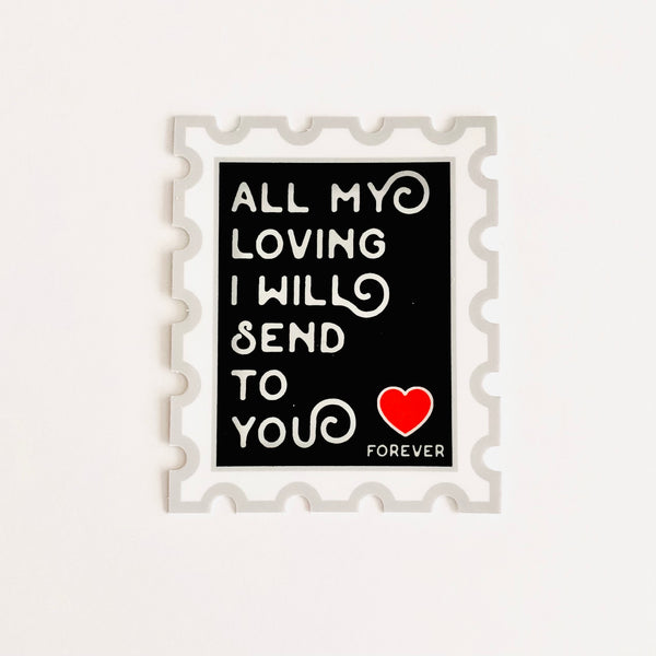 All My Loving I Will Send to You Sticker