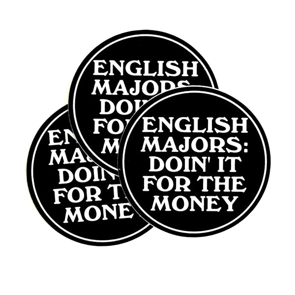 "English Majors 3"" Waterproof Vinyl Sticker"