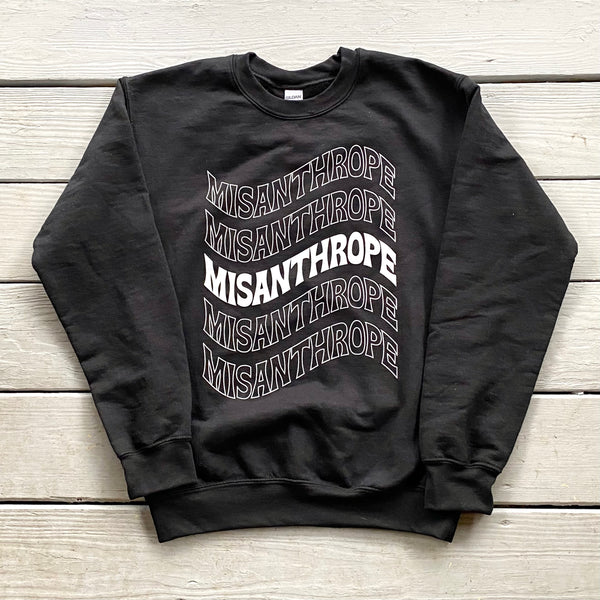 Misanthrope Sweatshirt // Black or Pink