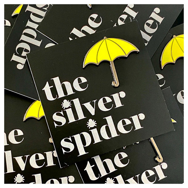 Yellow Umbrella Hard Enamel Pin