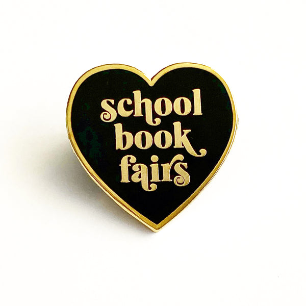 School Book Fairs Enamel Heart Pin