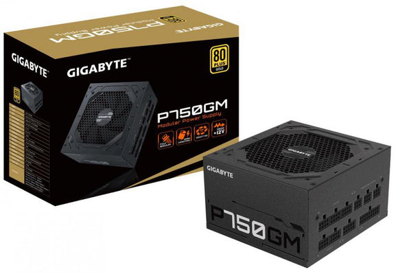 Gigabyte P750GM 750W 80 Plus Gold Fully Modular Power Supply