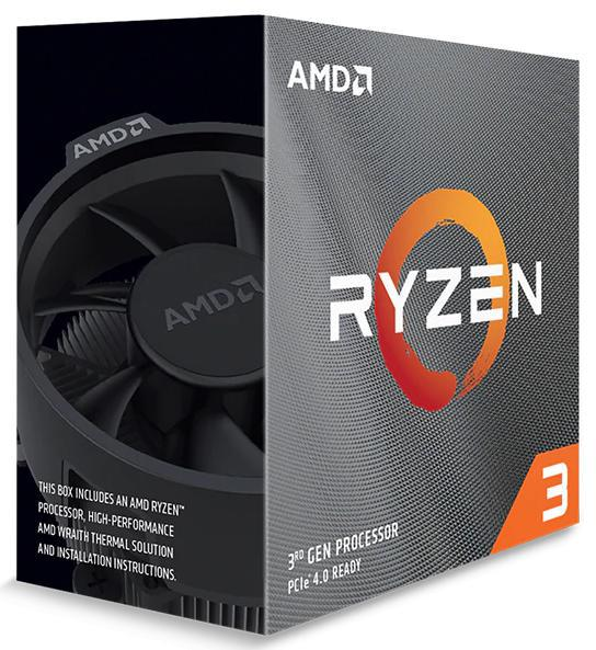 AMD Ryzen 3 3100, 4-Core/8 Threads AM4 CPU, Max Freq 3.9GHz, 18MB Cache 65W, With Wraith Stealth Cooler (AMDCPU)