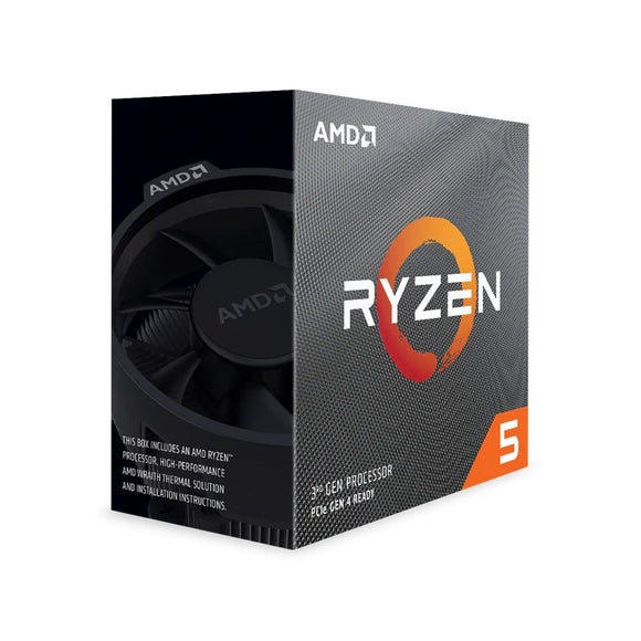 AMD Ryzen 5 3600X, 6 Core AM4 CPU, 3.8GHz 4MB 65W w/Wraith Spire Cooler Fan