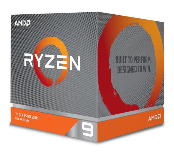 AMD Ryzen 9 3900X 12 Core AM4 CPU 3.8GHz 4MB 105W w/Wraith Prism Cooler Fan