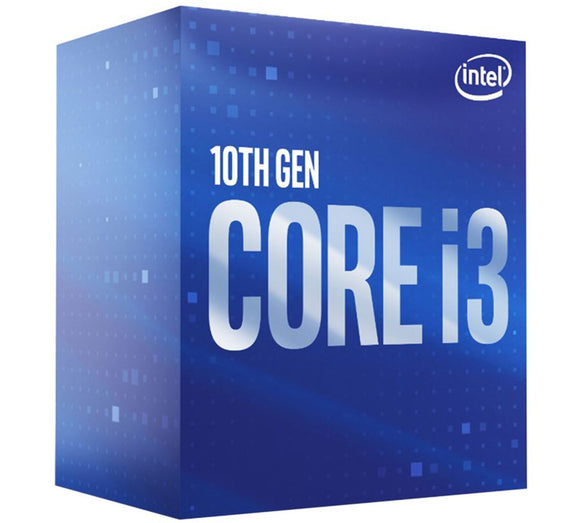 Intel Core i3-10100 CPU 3.6GHz (4.3GHz Turbo) LGA1200 10th Gen 4-Cores 8-Threads 6MB 65W