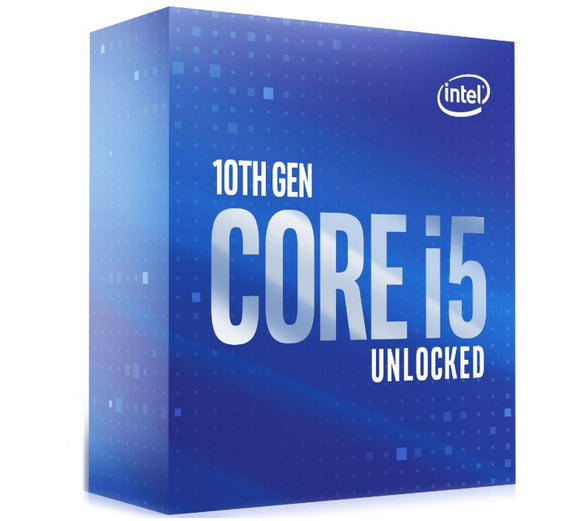 Intel Core i5-10600K CPU 4.1GHz 4.8GHz Turbo LGA1200 10th Gen 6-Cores 12-Threads