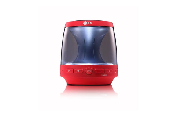 LG PH1R Bluetooth Speaker - Red, LED Mood Lighting, Built In Microphone