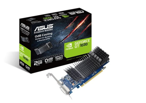 ASUS nVidia GeForce GT 1030 2GB GDDR5 low profile graphics card  8K
