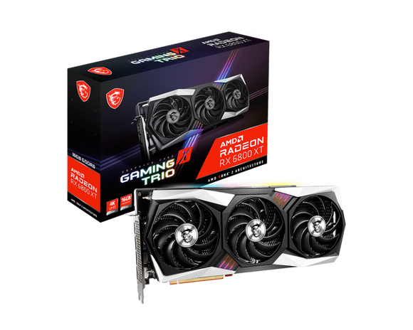 MSI Radeon RX 6800 XT GAMING X TRIO 16GB Video Card *On Back Order*