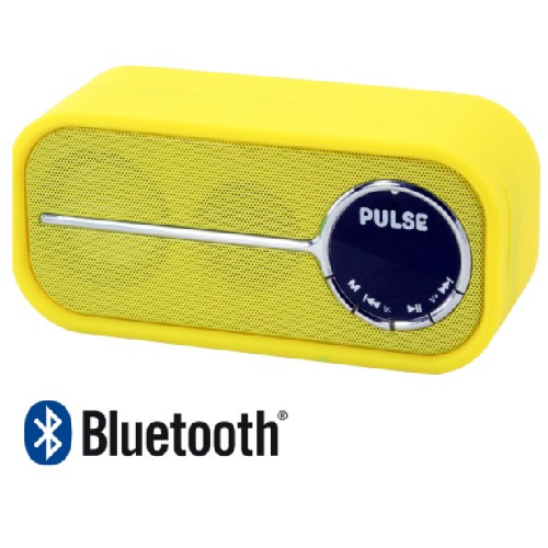 Laser Pulse Bluetooth Speaker with FM Radio (Yellow)