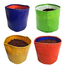 Load image into Gallery viewer, ROCHFERN Multicolor HDPE Grow Bags(Pack of 4) Size 10x10 inches Strong and UV Stabilized (Multicolor)