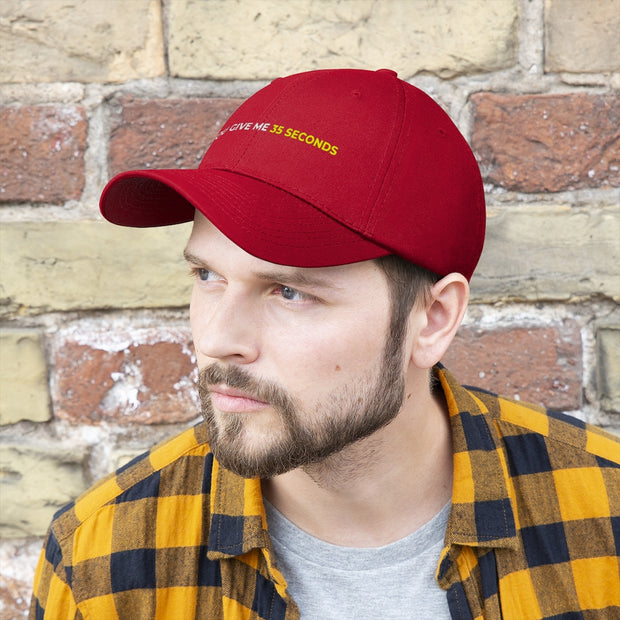 If You Give Me 35 Seconds Unisex Twill Hat - IfYouGiveMe35Seconds