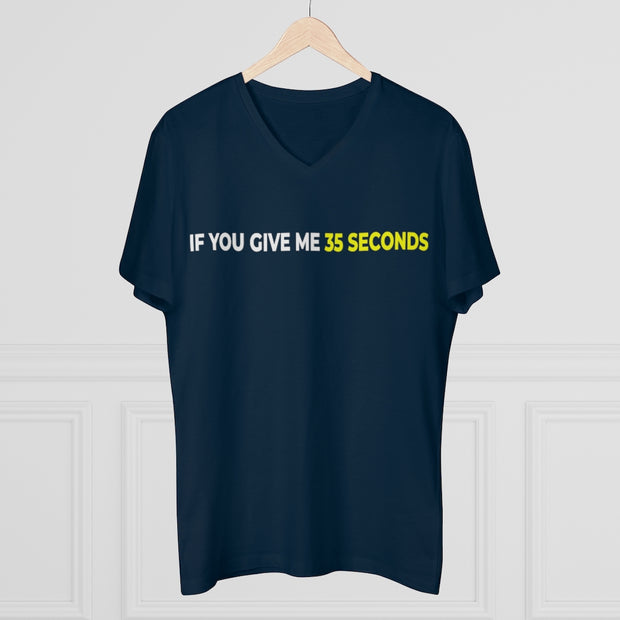 If You Give Me 35 Seconds Men's Presenter V-neck - IfYouGiveMe35Seconds