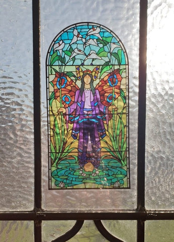 Angel of Purity Stained Glass Sticker