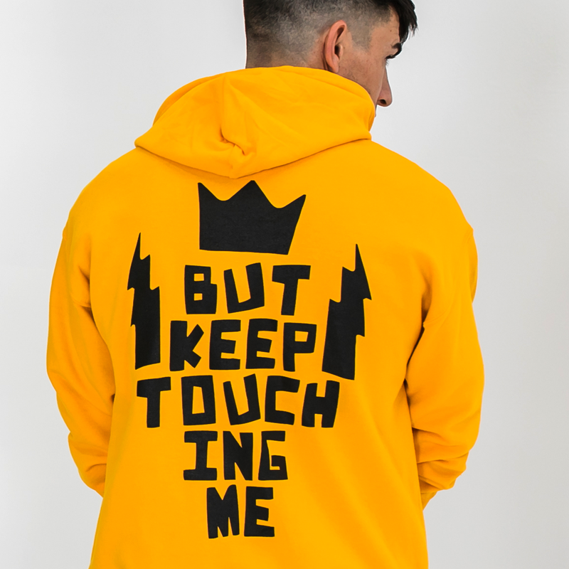Don't Touch Me Gold Hoodie